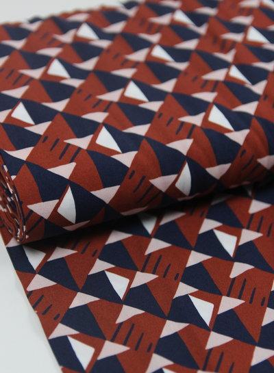 La Maison Victor rusty triangles - viscose