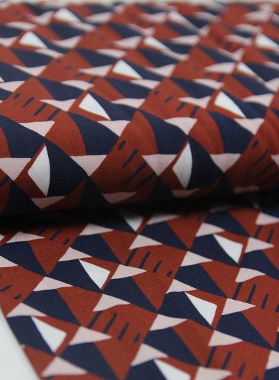 La Maison Victor roest driehoekjes - viscose