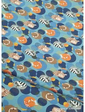 Swafing sleeping foxes - blue - jersey