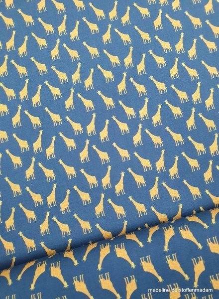 mini giraffe - blue - cotton