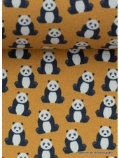 mini panda ochre - cotton