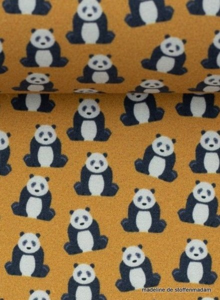 mini panda ochre - cotton
