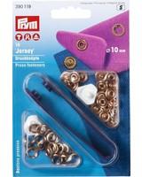 Prym jersey drukknopen, open ring, 10mm, rosé