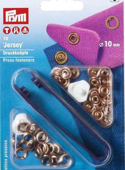 Prym press fastener jersey, retaining ring, 10mm, rose