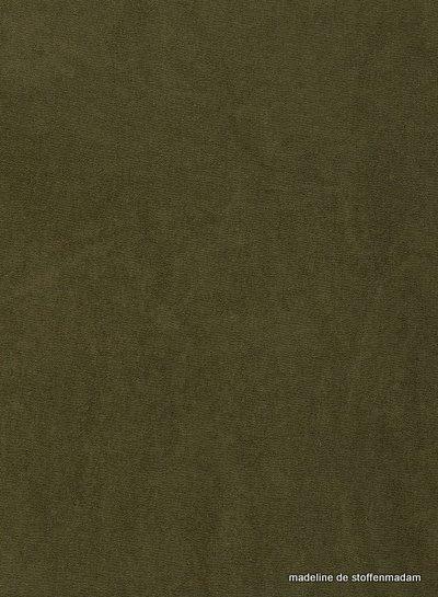 khaki stretch sponge or terry - 160 cm width