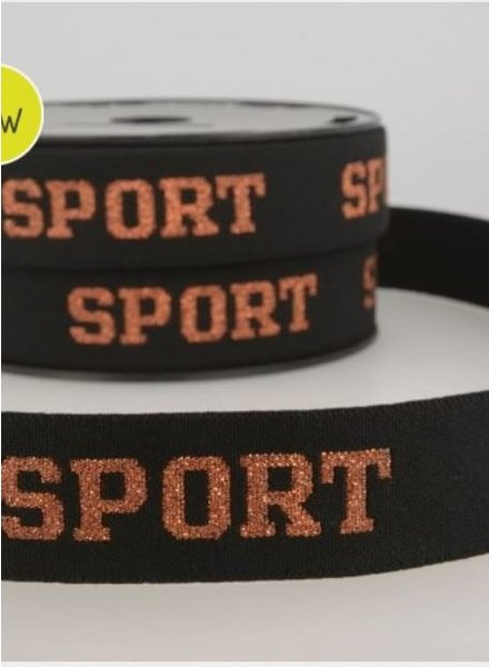 Sport brons  - taille elastic 30 mm