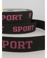 sport roze - taile elastiek 30mm