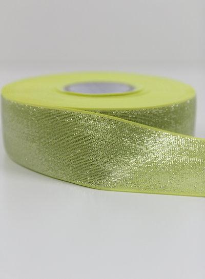 citroengeel zilver shiny - taille elastiek 40 mm