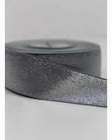 khaki zilver shiny - taille elastiek 40 mm