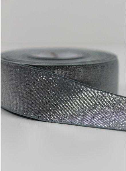 khaki silver shiny - taille elastiek 40 mm