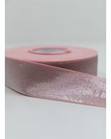 roze zilver shiny - taille elastiek 40 mm