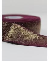 bordeaux goud shiny - taille elastiek 40 mm