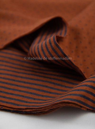 rusty dots and stripes double face - jersey