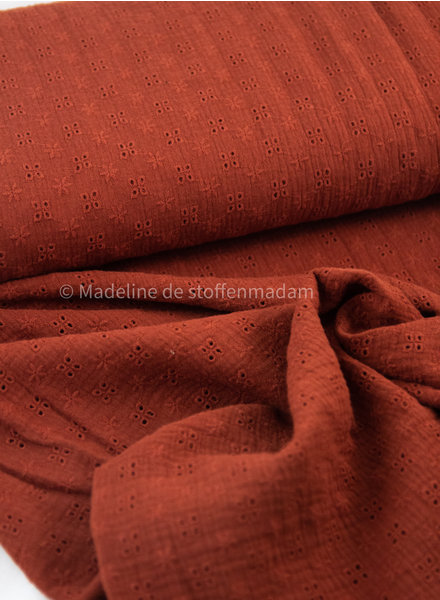 rusty embroidery cotton