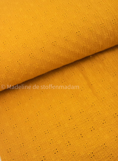 ocre embroidery cotton