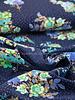 marine bolletjes en bloemen  - tricot