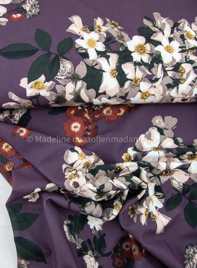 lila - klassevolle bloemen - crepe