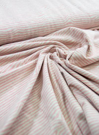 roze  golven - tricot