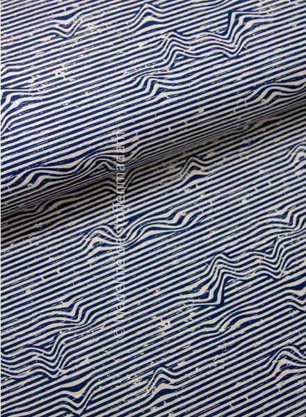 marineblauw golven - tricot