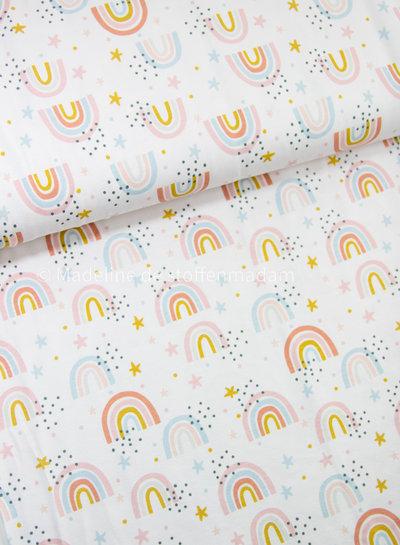 wit kleine regenbogen- tricot