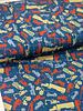 blauw werkvoertuigen - tricot