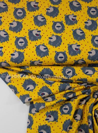 geel beren furry faces  - tricot