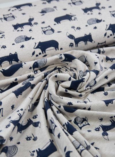 Benno blauw dieren - tricot