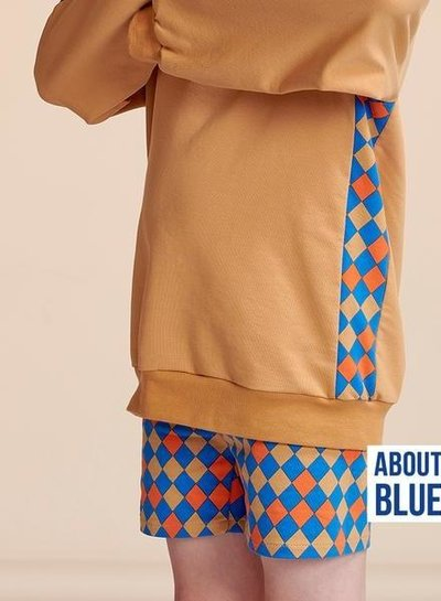 about blue fabrics uni 20 indian tan - french terry