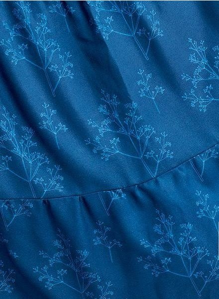 about blue fabrics Flowers and applause - crêpe viscose - life is a circus
