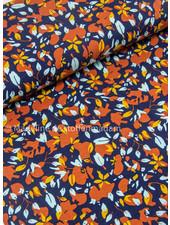 mooie herfstbloemen - viscose tricot