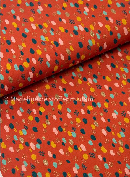 confetti en glitter - roest tricot