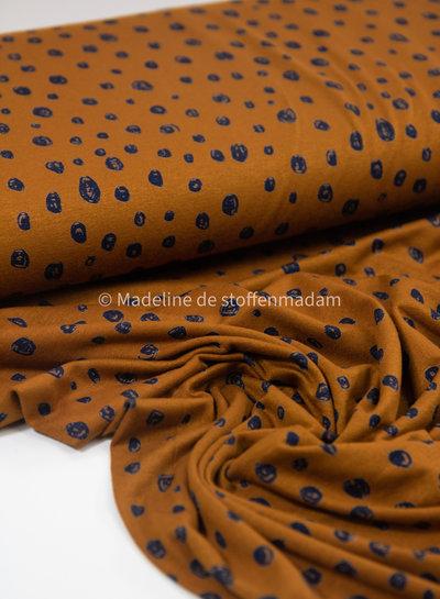 marineblauw bollen viscose tricot