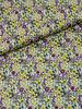 012 geel.paars kleine bloemetjes - liberty look - cotton lawn
