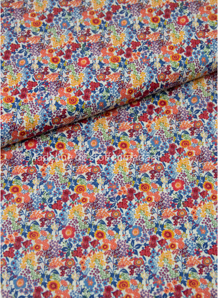 015 marsala flowers - liberty look - cotton lawn
