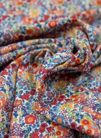 015 marsala flowers - liberty look - cotton lawn