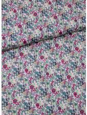 013 paars bloemen - liberty look - cotton lawn