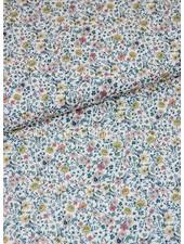 001 kleine blaadjes en bloemetjes pastel - liberty look - cotton lawn