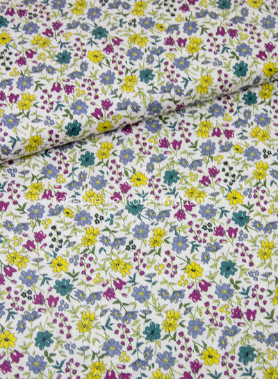 032 geel/lila - liberty look - cotton lawn