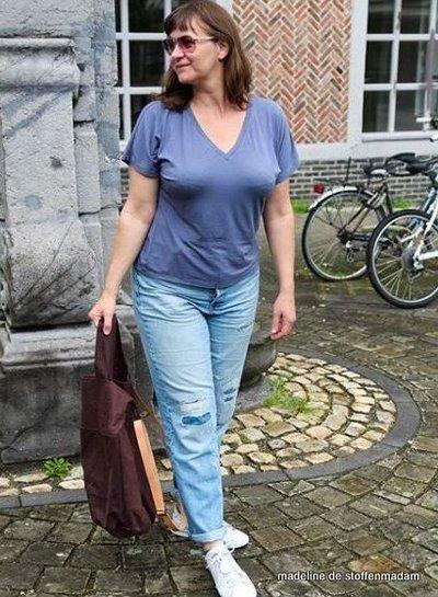V-hals techniek in t-shirt 4/10/2020