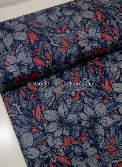 bloemen roze en blauw - punta di roma