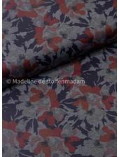 bloemen rood en grijs - punta di roma