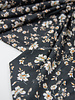 bloemen zwart - modal tencel tricot