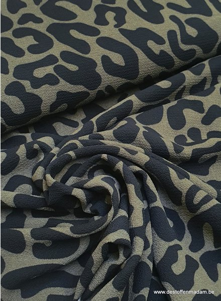 khaki leopard - chiffon