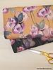 aquarel flowers - ochre - softskin fabric