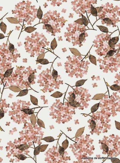 Family Fabrics Hortensia Rosy - french terry