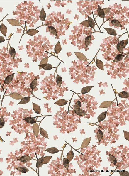 Family Fabrics Hortensia Rosy - french terry