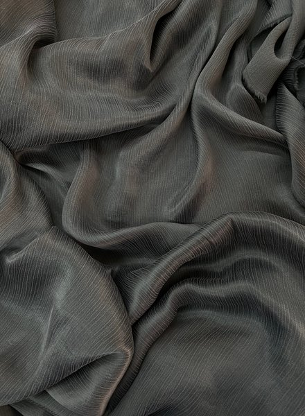 Ipeker - Vegan Textile cupro viscose - beautiful structure -dark khaki