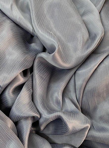 Ipeker - Vegan Textile cupro viscose - mooie structuur - grijs blauw
