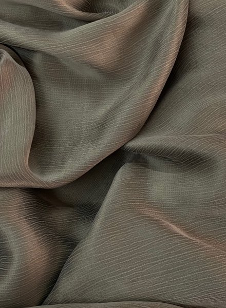 Ipeker - Vegan Textile cupro viscose - light kahki - beautiful structure -  soft as silk
