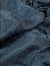 Ipeker - Vegan Textile cupro viscose - beautiful structure - petrol